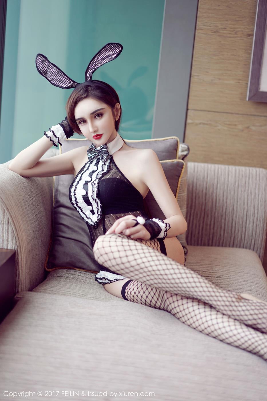 嗲囡囡模特waya小帝姬性感兔女郎丝袜美腿写真套图