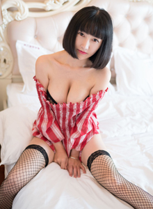 魅妍社美女模特小探戈性感黑丝网袜修长美腿大尺度写真