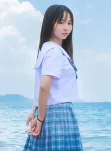 原创摄影小清新可爱萝莉JK制服沙滩唯美写真图片