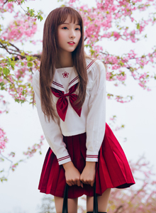 樱花系列清纯美女YJY槿央小清新日系制服写真图片
