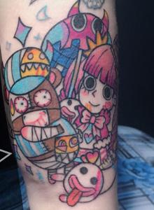 黑格肯恩原创纹身幽灵公主手臂纹身图案
