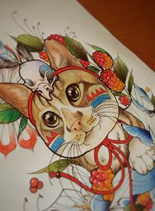 纹身刺青手稿 动漫卡通纹身手稿图案大全