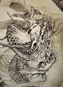纹身图案手稿精选 好看的龙纹身刺青图案手稿