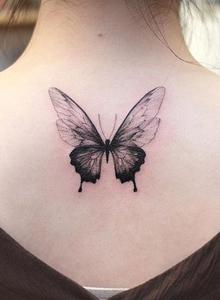 女生纹身小图案 小清新蝴蝶纹身图片