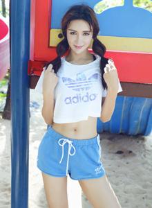 糖果画报网红美女伊莉娜清纯美少女小清新写真图片