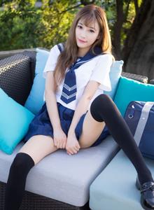 校花美女杨晨晨学生装JK制服黑丝诱惑写真图片
