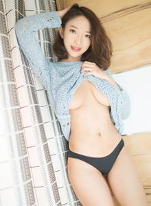 魅妍社VOL.204栗子Riz卷发美女小清新私房睡衣写真套图