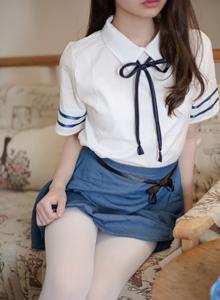 森萝财团小仙女白丝控 丝袜萝莉制服诱惑裸足写真套图