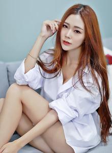 台湾美女黄上晏白衬衫性感睡衣美女大尺度写真图片