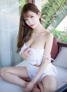 秀人网性感女神酥胸杨晨晨sugar蕾丝睡衣美女修长美腿写真