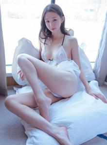 美女模特白沫白色蕾丝睡裙[XiuRen秀人]最新性感无圣光写真