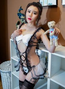 爱丽莎baby性感女仆装制服诱惑人体艺术写真 秀人网尤物美女写真集