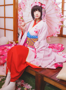COSER桜桃喵 - 《不起眼女主角培育法》加藤惠和服美女Cosplay美女套图