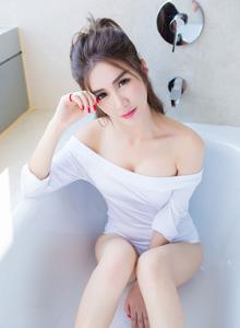 [IMiss爱蜜社]李李七七喜喜性感写真套图 李七喜白皙美女性感套图