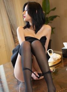 就是阿朱啊-蕾丝比基尼美女性感黑丝袜诱惑 秀人网嫩模阿朱No.1640写真集