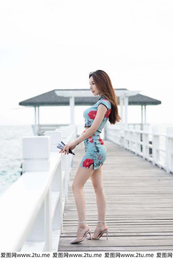 沈佳熹-华丽古韵的旗袍美女性感身材诱惑 魅妍社女神沈佳熹写真集