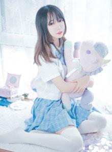 JK制服少女白丝美女COSPLAY私房可爱萝莉 喵糖映画VOL.019写真集