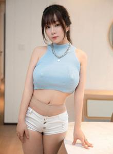 [尤蜜荟YouMi]王雨纯套图写真 - 超短牛仔裤+极致丝袜魅惑美女
