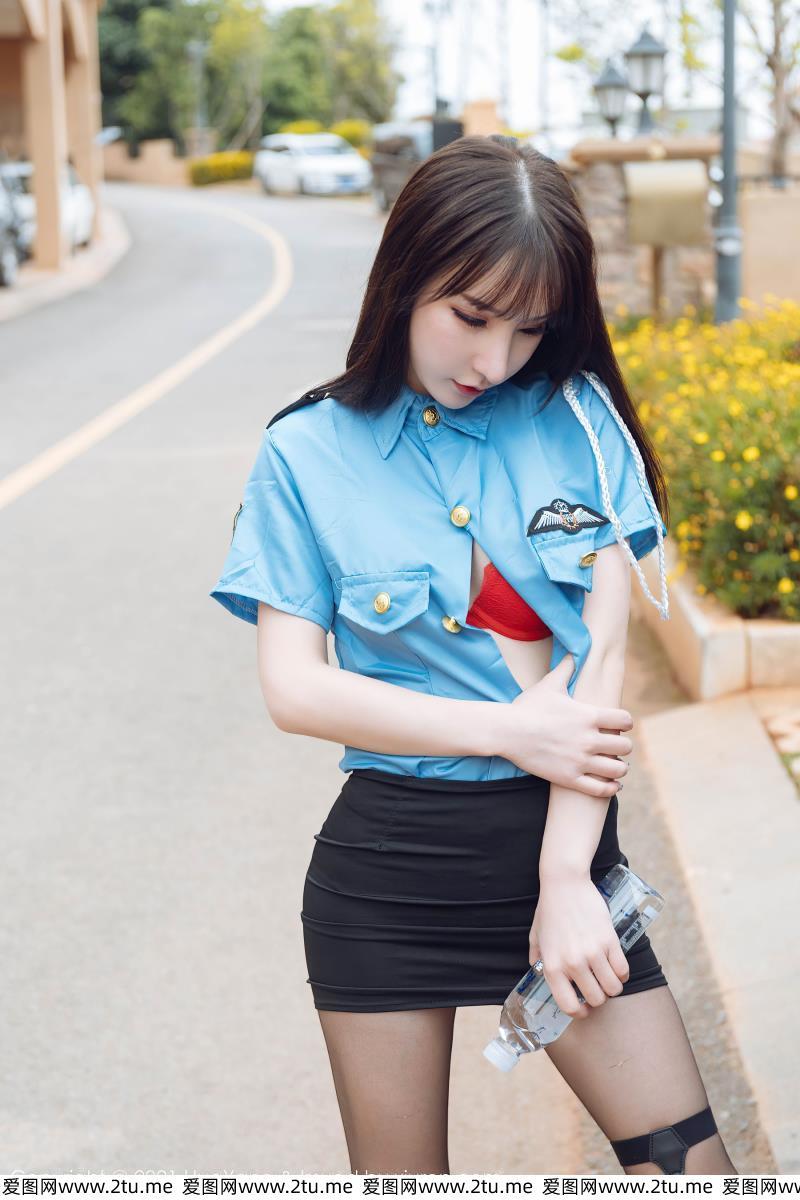 [花漾HuaYang]周于希Sandy套图 - 情趣制服诱惑黑丝大长腿美图
