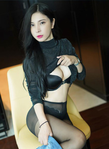 秀人网模特小蛮妖 - OL风格与性感牛仔裤+黑丝福利写真套图